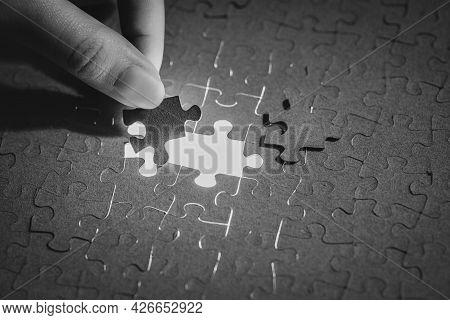 Assemble The Puzzle, Put The Pieces Of The Puzzle, Solve A Complex Problem, Start-up Concept, Patien