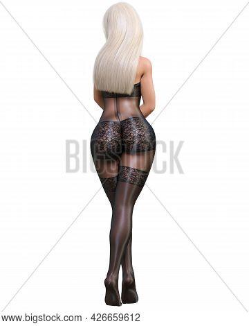 Beautiful Woman In Bodystocking.