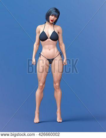 Beautiful Athlete Bodybuilder Woman.