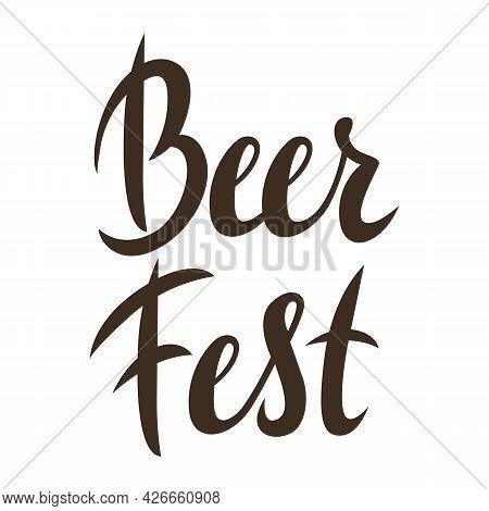 Illustration Of Beer Fest Lettering. Decorative Text For Oktoberfest.
