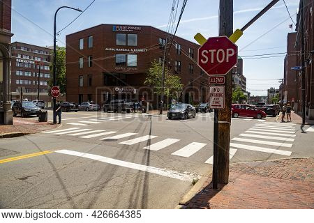 Portland Old Port Is Filled With 19th Century Brick Buildings And Is Now The Commercial Center Of Th