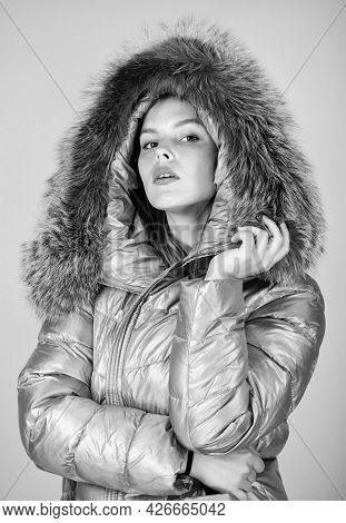 Faux Fur. Warming Up. Casual Winter Jacket Slightly More Stylish And Have More Comfort Features Such