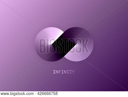 Infinity Business Logo Template For Your Design. Eternity Concept In Metallic Gradient Color, Abstra