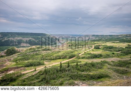 View At Dry Island Buffalo Jump, A Traditional Site For The Indigenous Buffalo Hunt.