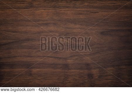 Wood Plank Panel Texture. Outdated Mahogany Wood Table. Wood Texture Background