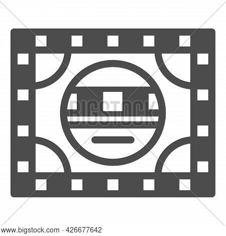 Setting Table Solid Icon, Monitors And Tv Concept, Electronic Configuration Vector Sign On White Bac