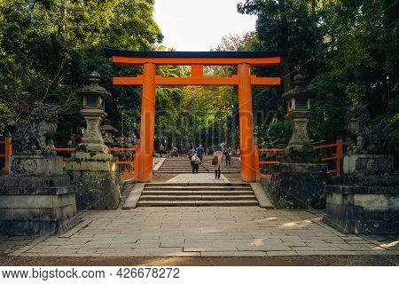 Kasuga Taisha, A Shrine Of One Thousand Lantern At Nara, Kansai, Japan. Translation: Night Lantern