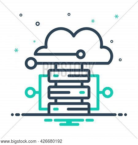 Mix Icon For Cloud-hosting Cloud Hosting Server Database Storage Technology Connectivity