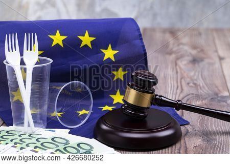 Concept Photo For Eu Decision To Stop The Use Of Disposable Tableware