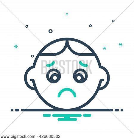 Mix Icon For Sad Worried Sadness Gloomdoldrums Boredom Dispirited Stress Upset