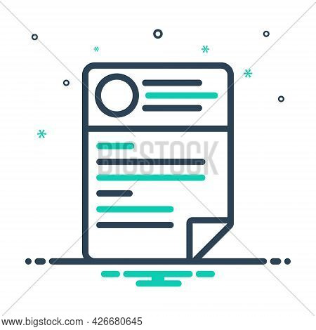 Mix Icon For Cv Resume Template Paper Biography Biodatacv Resume Template Paper Biography Biodata