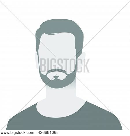 Default Avatar Photo Placeholder Icon. Grey Profile Picture. Man In T-shirt