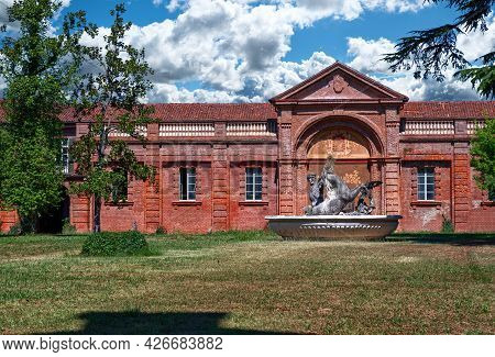 Venaria Reale,piedmont,italy. July 2021. The Summer Royal Residence Of The Savoy Family: The Castle
