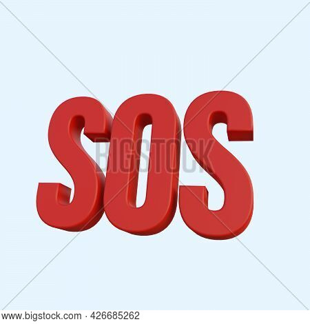 3d Illustration Of Simple Icon Sos Emergency