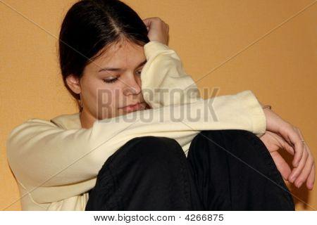 Depressed Teenage Girl