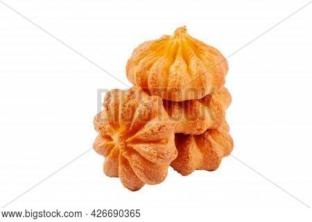 Buttery Spritz Biscuits Isolated On White Background