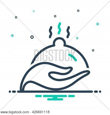 Mix Icon For Nourish Feed Food Fish Cherish Enshrine Protect
