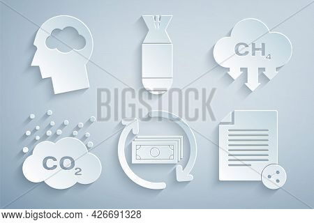 Set Refund Money, Methane Emissions Reduction, Co2 In Cloud, Share File, Aviation Bomb And Head Silh