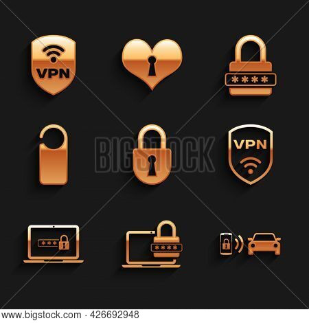 Set Lock, Laptop With Password, Smart Car Alarm System, Shield Vpn Wireless, And Please Do Not Distu