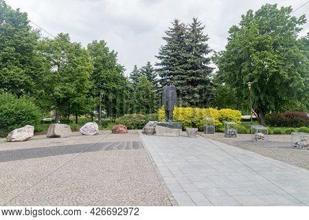 Lubin, Poland - June 1, 2021: Sculpture Of Jan Wyzykowski At Square Of Jan Wyzykowski.