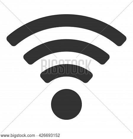 Wifi Vector Icon On Gray Background. Wi-fi Logo Illustration.