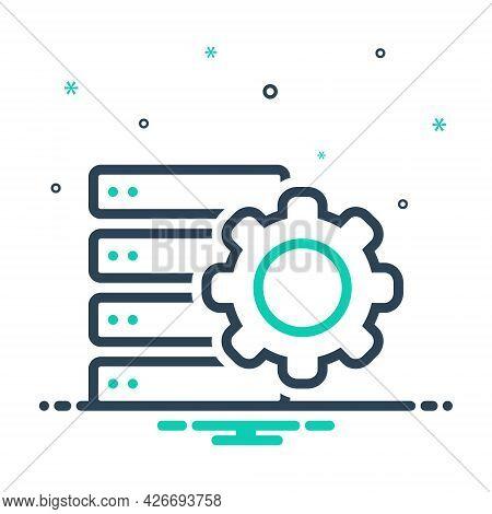 Mix Icon For Settings Storage Server Database Server-error Server Error Database Exclamation Network