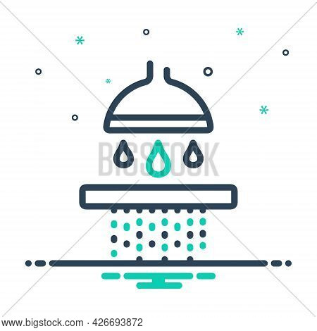 Mix Icon For Permeate Percolate Seep Water Shower Bath-shower