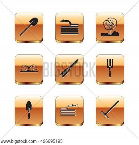 Set Garden Shovel, Trowel Spade Or, Hose Fire Hose, Gardening Handmade Scissor, Automatic Irrigation