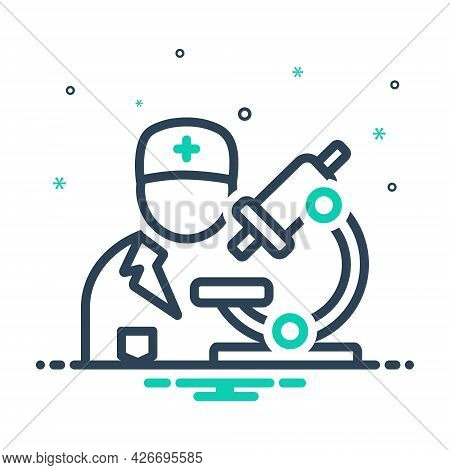 Mix Icon For Pathologist Biochemist Diagnosis Pharmacology Experiment Scientific Medical Technologis