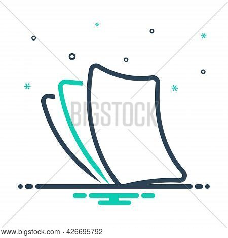 Mix Icon For Paperless Cardboard Disposable Insubstantial Paper-thin Papery Wafer-thin