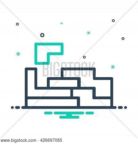 Mix Icon For Solution Puzzle Concept Crisis Game Settlement
