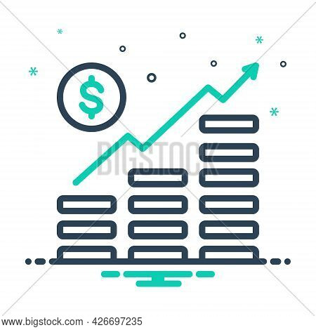 Mix Icon For Money-growth Managment Revenue Increase Progress Planning Arrow