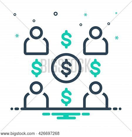 Mix Icon For Employee-costs Expenses Salary People Group Team Worker Staff Costs