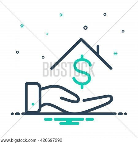 Mix Icon For Loan-money Borrower Loan Bribery Lender House Installment Investment
