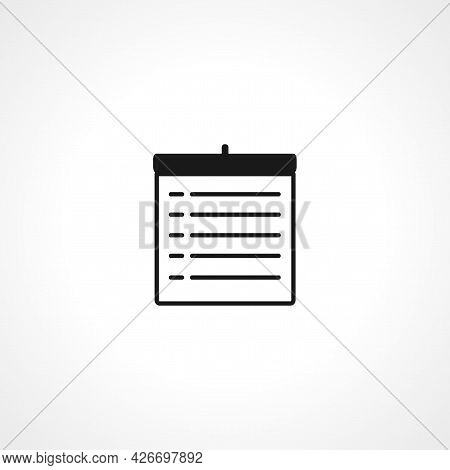 Schedule Icon. Schedule Isolated Simple Vector Icon