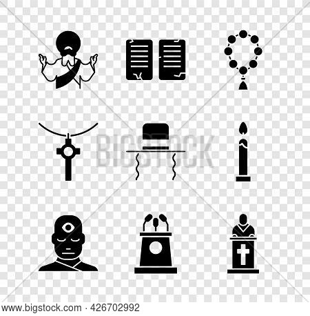Set Jesus Christ, The Commandments, Rosary Beads Religion, Man With Third Eye, Stage Stand Or Tribun
