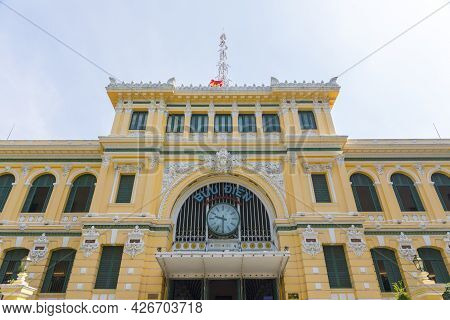 Ho Chi Minh City Post Office, Or The Saigon Central Post Office In Ho Chi Minh City, Vietnam.