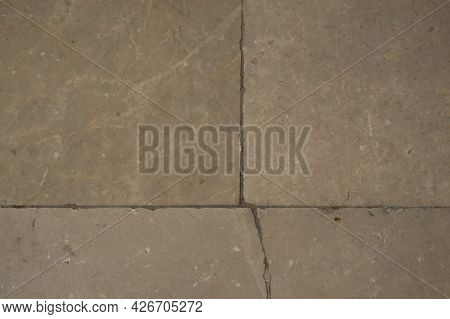 Background Of A Soft Beige Cracked Marble Wall. Wall, Marble, Light Beige, Color, Cracked Surface.