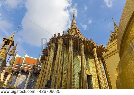 The Temple Of The Emerald Buddha In Grand Palace Of Thailand In Bangkok, Thailand.