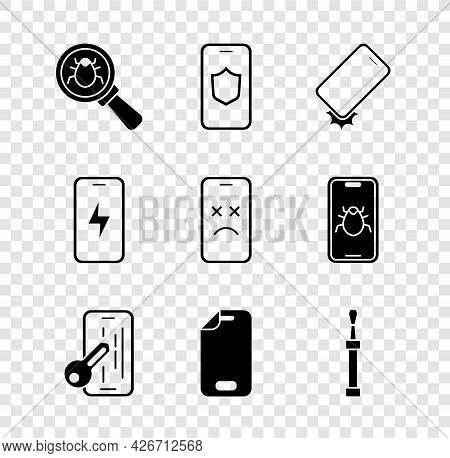 Set System Bug, Mobile With Shield, Shockproof Phone, Glass Screen Protector, Screwdriver, Charging