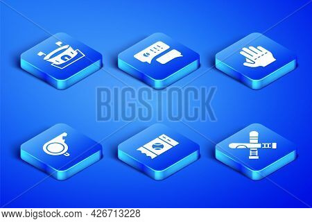 Set Crossed Baseball Bat, Baseball Arena, Ticket, Whistle, Speech Bubble Chat And Glove Icon. Vector