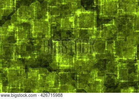 Creative Amazing Lime Techno Optic Shining Digitally Made Background Illustration