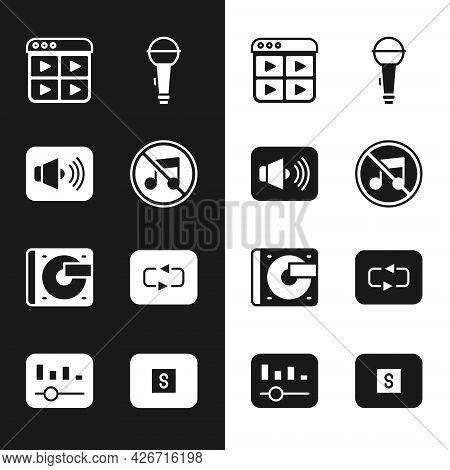 Set Speaker Mute, Volume, Music Playlist, Microphone, Vinyl Player With Vinyl Disk, Repeat Button, S