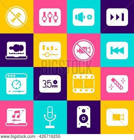 Set Play Video Button, Photo Retouching, Rewind, Speaker Volume, Music Equalizer, Sound Or Audio Rec