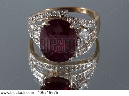 14-karat Yellow Gold Ring With Diamonds And Rubies
