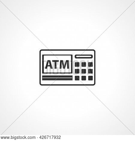 Atm Icon. Atm Isolated Simple Vector Icon