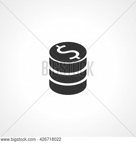 Coin Icon. Coin Cent Isolated Simple Vector Icon