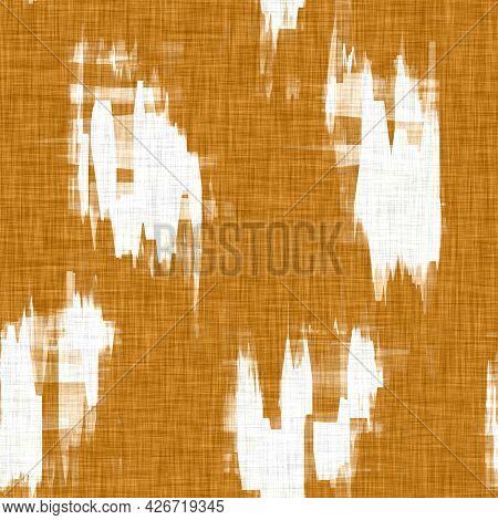 Linen Texture Background With Mottled Blotch Effect. Organic Irregular Seamless Pattern. Modern Plai