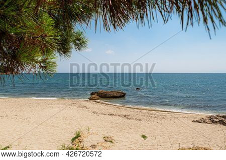 The Most Famous Seaside Resort of the Region, Village in Rhodopi Region, North Greece