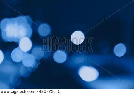 Blue bokeh patterned background illustration